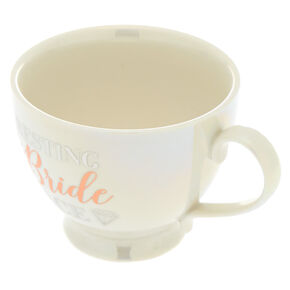 Resting Bride Face Ceramic Mug - White,