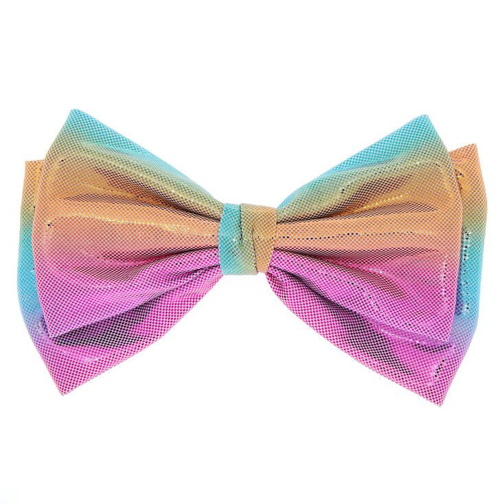 Anodized Metallic Hair Bow Clip - Pastel,