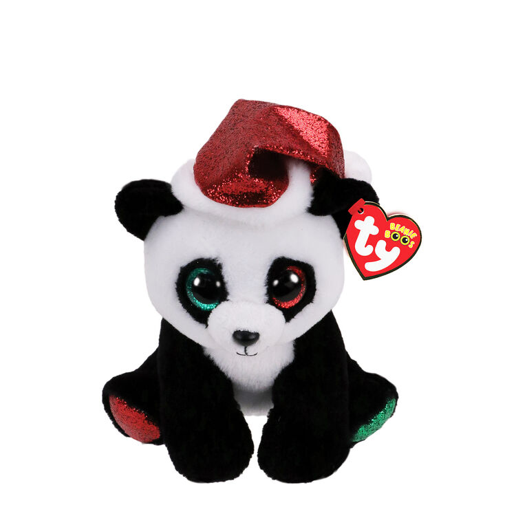 Ty Beanie Boo Small Pandy Claus the Panda Plush Toy,