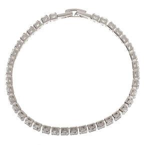 Silver Rhinestone Chain Tennis Bracelet,
