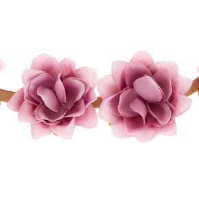Festival Flower Crown Headwrap - Mauve,