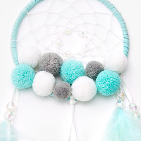 Pom Pom Feather Dreamcatcher - Mint,