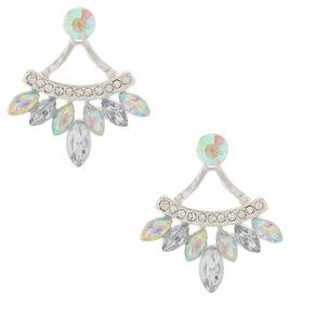Iridescent Front & Back Earrings,