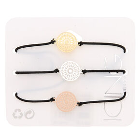 Mixed Metal Filigree Statement Bracelets - 3 Pack,