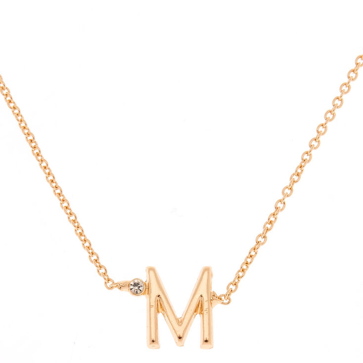 Gold Initial Necklace - M,