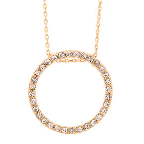 Delicate Crystal Circle Necklace,