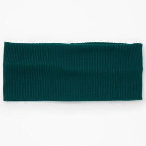 Flat Ribbed Headwrap - Hunter Green,