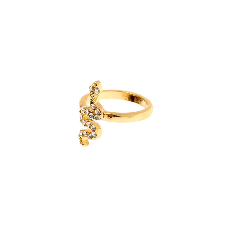 Gold Cross Midi Ring,