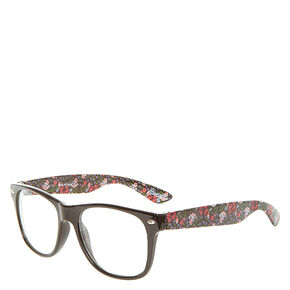 Floral Print Retro Glasses,