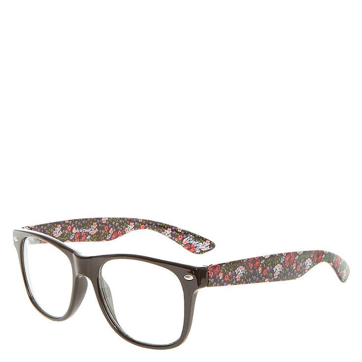 Floral Print Retro Glasses,