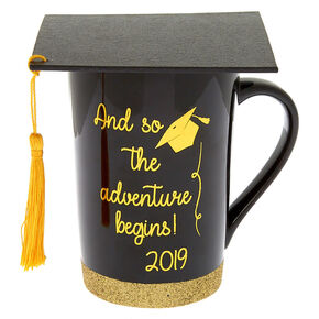 The Adventure Begins Graduation Cap Mug,