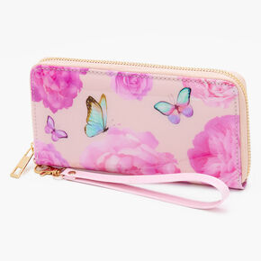 Floral Butterfly Wristlet - Pink,