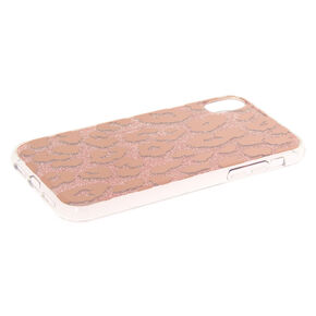 Glitter Leopard Print Phone Case - Fits iPhone XR,