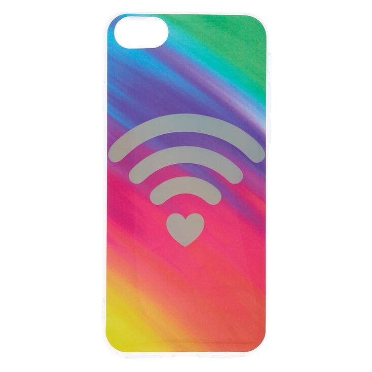 Rainbow Heart Wi-Fi Phone Case - Fits iPhone 6/7/8 Plus,