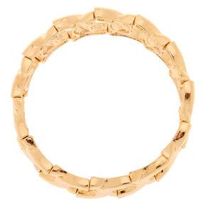 Gold Chain Stretch Bracelet,