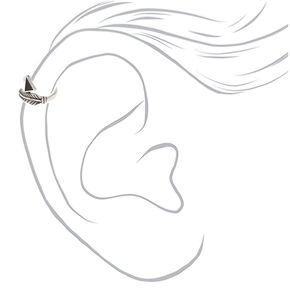 Silver Feather Ear Cuff,