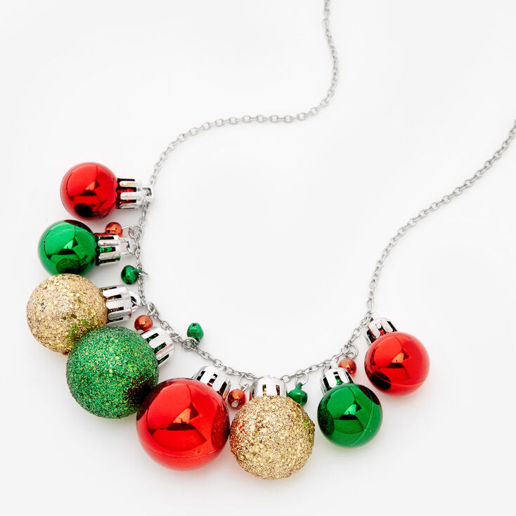 Glitter Ornaments Statement Necklace,