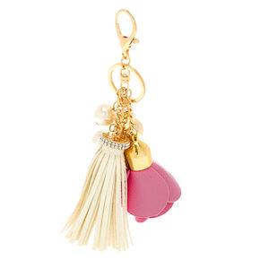 Pink Flower Bauble Keychain,