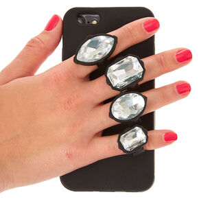 Black Gem Holder Phone Case - Fits iPhone 6/6S,