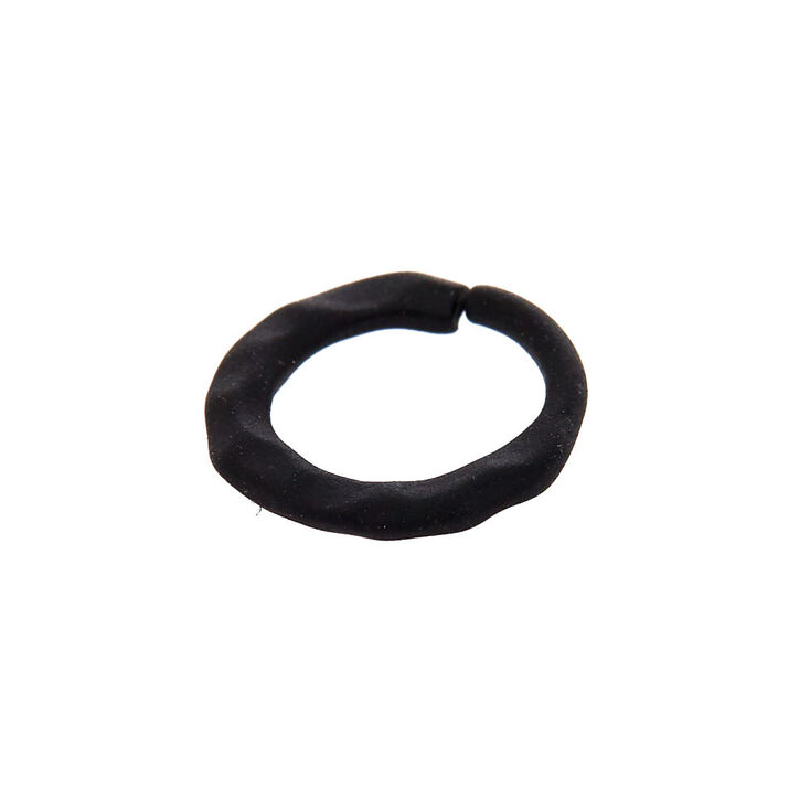 Matte Cartilage Hoop Earrings - Black,