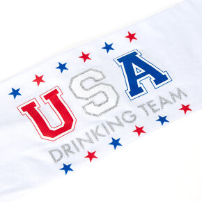USA Drinking Team Headwrap - White,