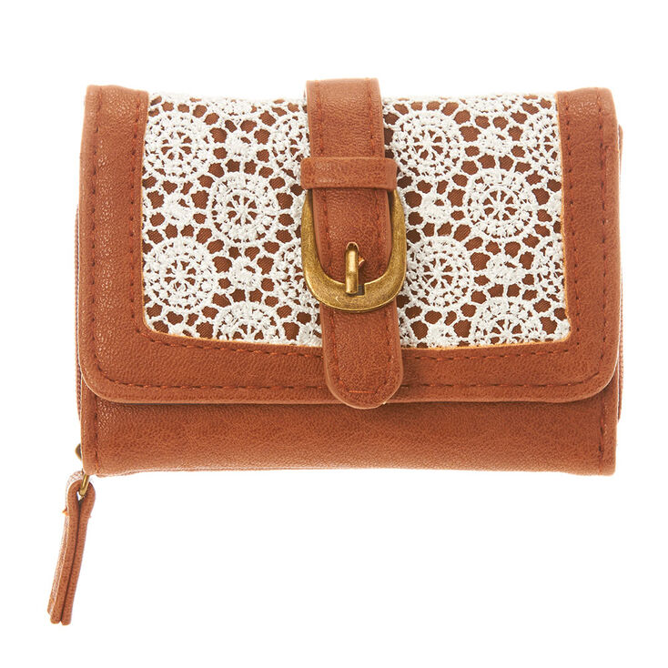 Brown Crochet Mini Wallet,