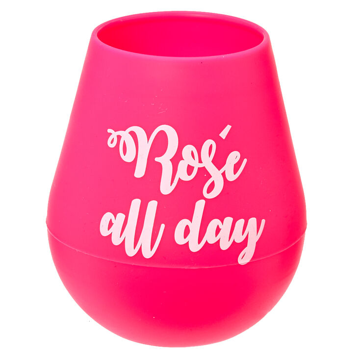 Rosé All Day Silicone Wine Glass,