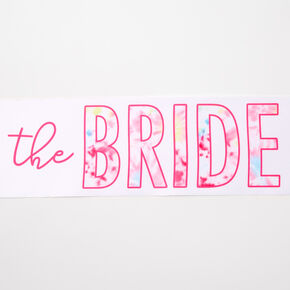 The Bride Tie Dye Sash - White,