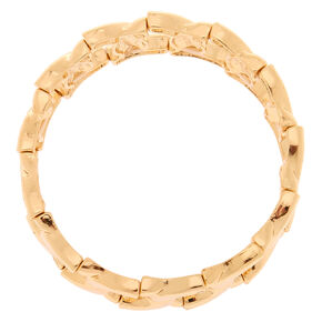 Gold Chain Stretch Bracelet,