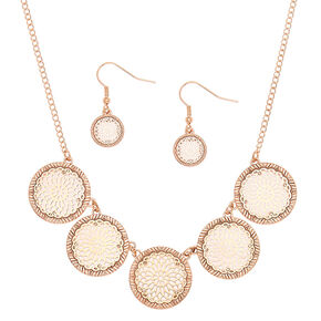 Gold Filigree Medallion Jewelry Set - 2 Pack,