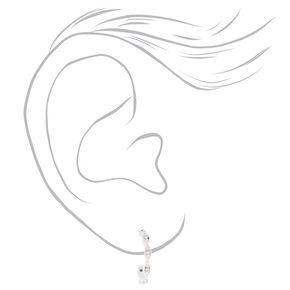 Sterling Silver 12MM Braided Hoop Earrings,