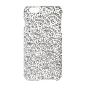 Scalloped Rhinestone & Pearl Phone Case - Fits iPhone 6/6S Plus,