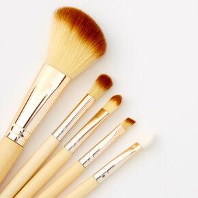 Bamboo Makeup Brush Set - Brown, 5 Pack,