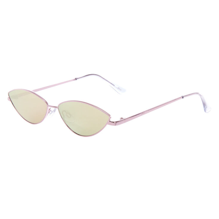 Slim Cat Eye Sunglasses - Pink,