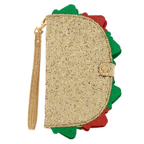 Glitter Taco Folio Phone Case - Gold,