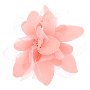 Flower Hair Barrette - Baby Pink,
