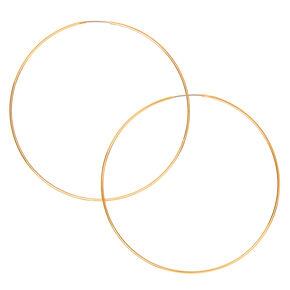 Gold 60MM Wire Hoop Earrings,