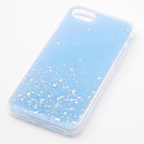 Blue Glitter Star Liquid Fill Phone Case - Fits iPhone 6/7/8/SE,