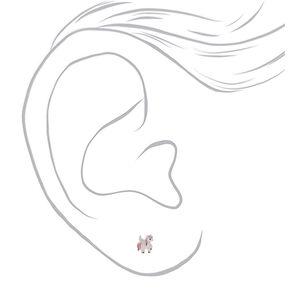 Sterling Silver Pegasus Stud Earrings,