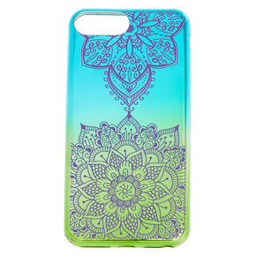 Green Zen Mandala Phone Case,