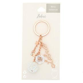 Zodiac Rose Gold Keychain - Libra,