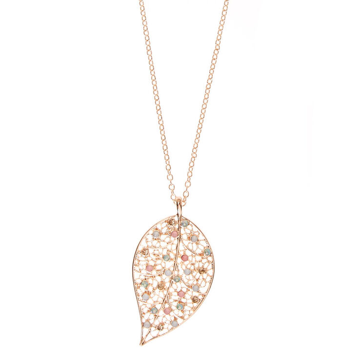 Filigree Leaf Pendant Necklace,