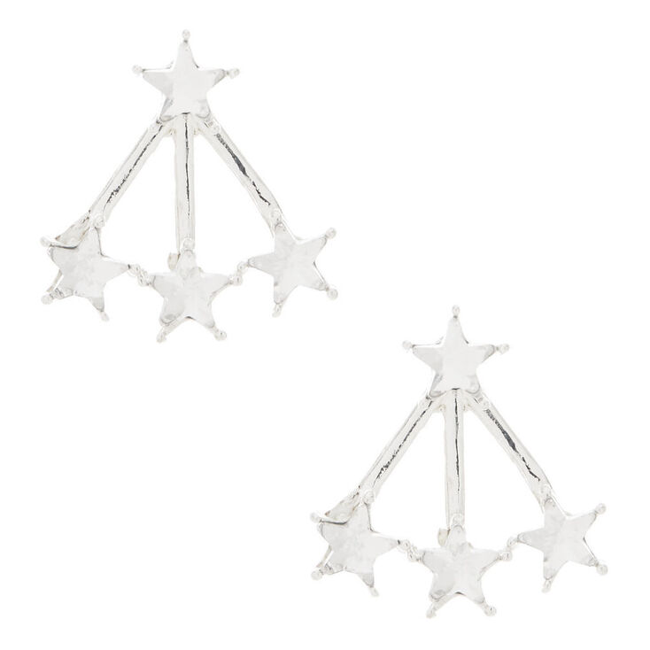 Star Front and Back Earrings,