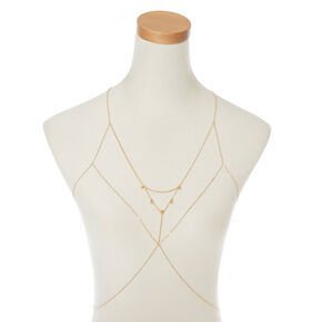 Gold-Tone Caged Body Chain,
