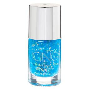Foil Flakes Nail Polish - Blue,