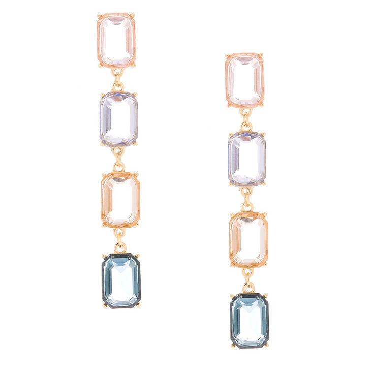 """3"""" Pastel Shine Linear Drop Earrings,"""