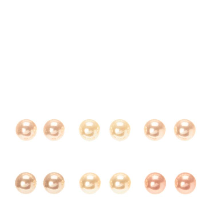 10MM Pastel Pearl Stud Earrings,