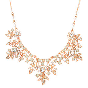 Rose Gold Floral Vine Statement Necklace,
