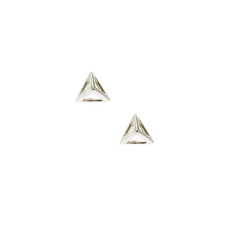 79d9399d2 Sterling Silver 3D Pyramid Stud Earrings | Icing US