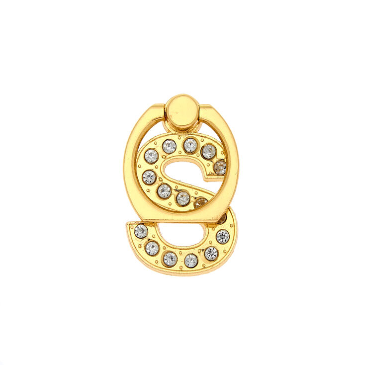 Gold Initial Ring Stand - S,